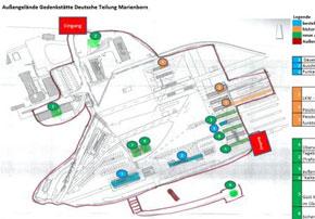 Geländeplan Gedenkstätte Marienborn