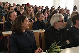 Eröffnung der TCCM2018 mit HS-Rektorin A. Lequy